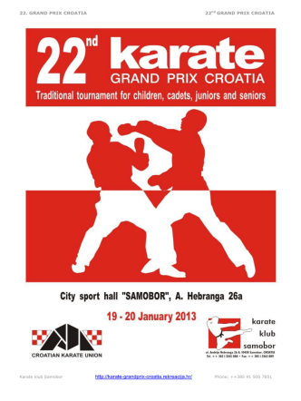 accommodation - Karate zveza Slovenije