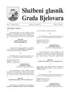 Službeni glasnik Grada Bjelovara br. 7/2013