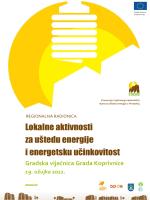 Program Koprivnica - Regionalna energetska agencija Sjever