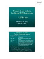Primjeri dobre prakse u korištenju IPARD programa MJERA
