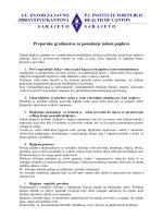 Prilog - Zavod za javno zdravstvo Kantona Sarajevo