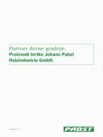 Partner drvne gradnje. Proizvodi tvrtke Johann Pabst Holzindustrie