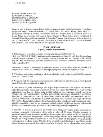 BOSNA I HERCEGOVINA REPUBLIKA SRPSKA