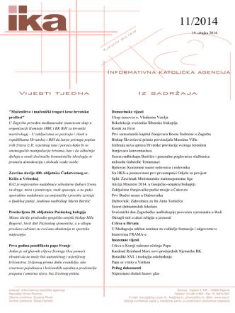 11 - 19.03.2014 - Hrvatska biskupska konferencija