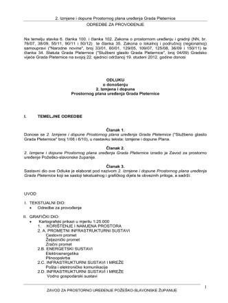 2. Izmjene i dopune Prostornog plana uređenja