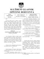 """""""Službeni glasnik opštine Derventa"""", broj: 6/10"""