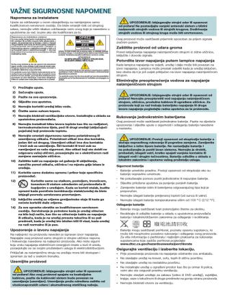 Cisco PDS3121 Set-Top Safety Sheet (Bosnian)