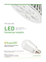 Info ponuda LED unutarnja rasvjeta 15.01.2013