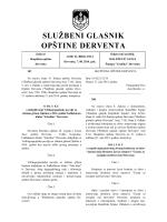 """""""Službeni glasnik opštine Derventa"""", broj: 10/14"""