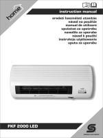 instruction manual FKF 2000 LED