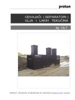 Odvajači mineralnih ulja tip OLT