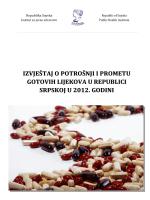Izvještaj o potrošnji i prometu gotovih lijekova u Republici Srpskoj u