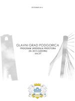 Program uređenja prostora za 2015.godinu