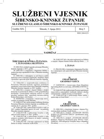 05/12 - Šibensko-kninska županija