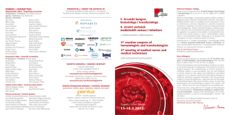 5. hrvatski kongres hematologa i transfuziologa 4. struÀni sastanak