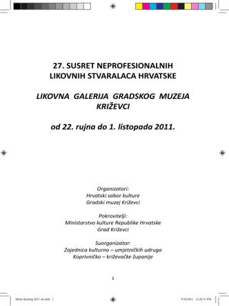 27. SNLSH Katalog - Hrvatski sabor kulture