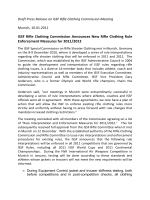Draft Press Release on ISSF Rifle Clothing Commission Meeting