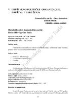 VI. Društveno – političke organizacije, društva i udruženja