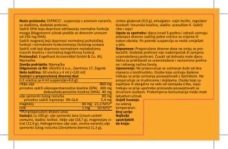 deklaracije Esprico ® suspenzija u PDF obliku