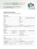 registracijskog obrasca