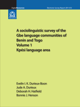 A sociolinguistic survey of the Gbe language