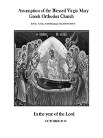 October - Assumption of the Blessed Virgin Mary Greek Orthodox