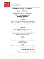 TJEDAN RESTORANA U ZAGREBU 08.03. – 16.03.2013