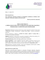 Druga obavijest - Prirodoslovna i grafička škola Rijeka