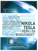 """""""nikola tesla - genij za budućnost"""" 2015. godine"""
