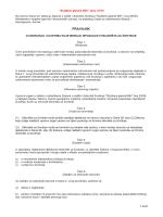 Pravilnik o osnivanju i uvjetima koje moraju ispunjavati