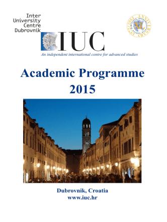 Academic Programme 2015
