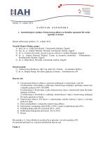 Sažetak zapisnika s 1. sjednice ZO za biološke opasnosti
