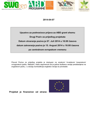 2014-04-07 Upustvo za podnosioce prijava za ABD grant shemu