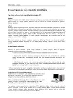 Osnovni pojmovi informacijske tehnologije