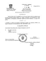 Oglas Trgovačkog suda i Prijedlog predstečajne nagode