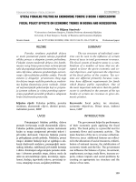 uticaj fiskalne politike na ekonomske tokove u bosni i hercegovini