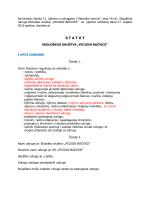 Prijedlog za novi STATUT - Ekološko Društvo Picigin Bačvice
