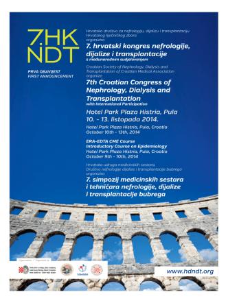 7. hrvatski kongres nefrologije, dijalize i transplantacije