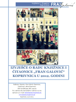 Izvješće o radu Knjižnice i čitaonice Fran Galović 2012