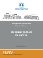 Mašinstvo - International University of Sarajevo