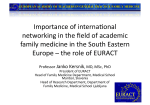 Importance of interna5onal networking in the field of academic