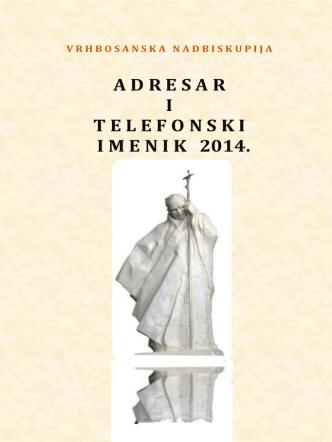 Adresar 2014 - Vrhbosanska nadbiskupija