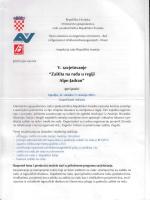 """v. savjetovanje """"Zaštita na radu u regiji Alpe-Jadran"""""""