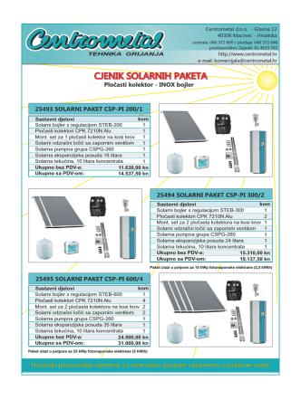Centrometal solarni paketi