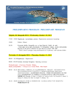 PRELIMINARNI PROGRAM / PRELIMINARY PROGRAM
