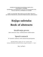 Program i sažeci. - Istraživanja govora