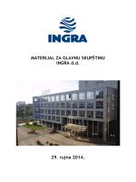 MATERIJAL ZA GLAVNU SKUPŠTINU INGRA d.d. 29. rujna 2014.
