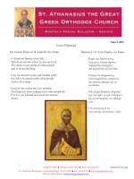 Latest Bulletin - Saint Athanasius Greek Orthodox Church