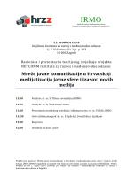 Mreže javne komunikacije u Hrvatskoj: medijatizacija javne
