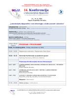 FINALNI PROGRAM – Konferencija HLU – Zagreb 2014